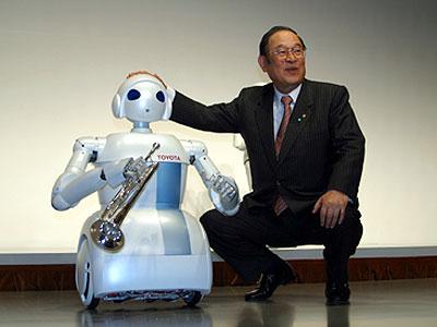 Toyota two wheeled humanoid robot