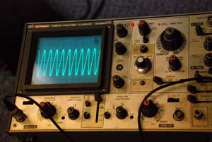 osciloscope shot of Robot Interface clocking